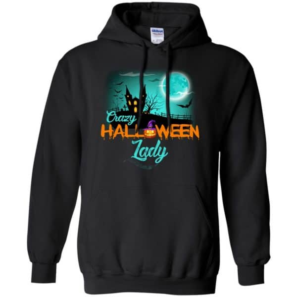Crazy Halloween Lady Shirt, Hoodie, Racerback Apparel 7