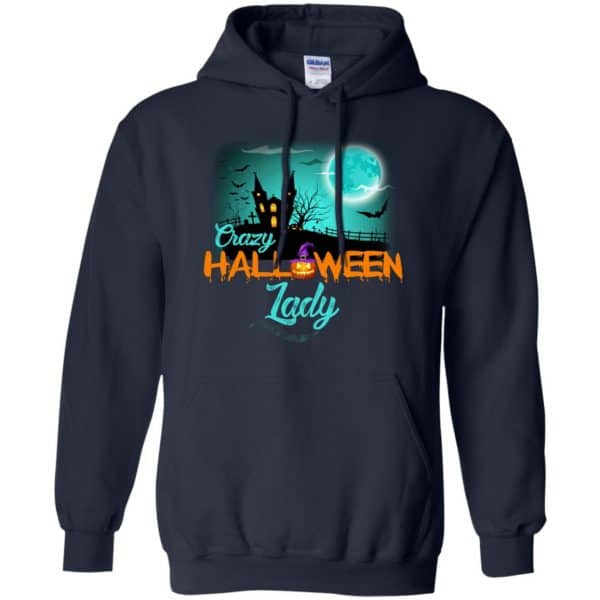Crazy Halloween Lady Shirt, Hoodie, Racerback Apparel 8
