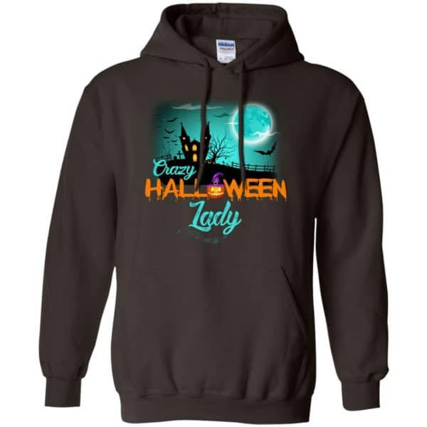 Crazy Halloween Lady Shirt, Hoodie, Racerback Apparel 9