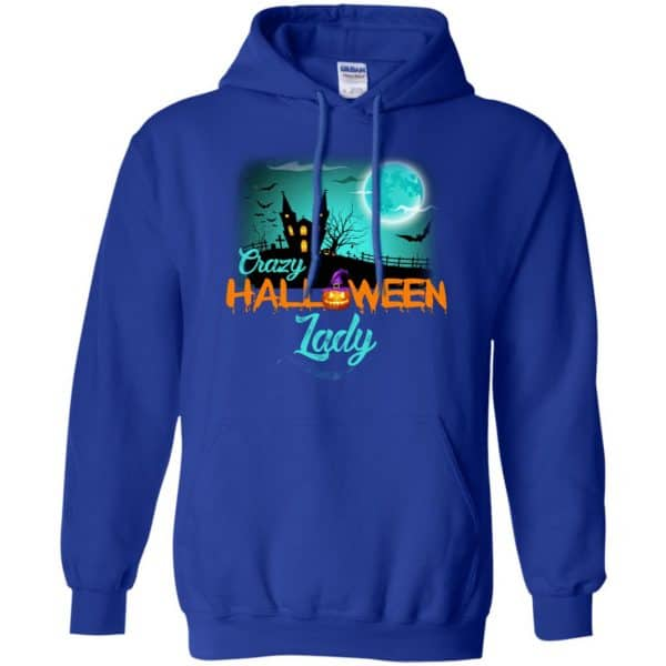 Crazy Halloween Lady Shirt, Hoodie, Racerback Apparel 10