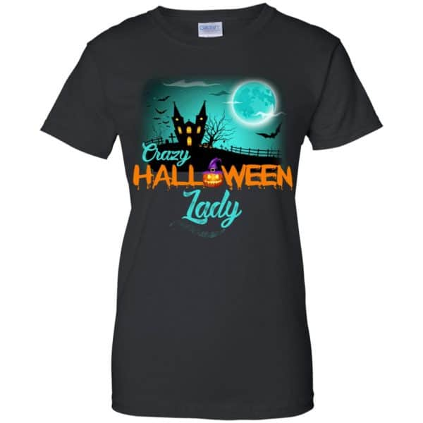 Crazy Halloween Lady Shirt, Hoodie, Racerback Apparel 11