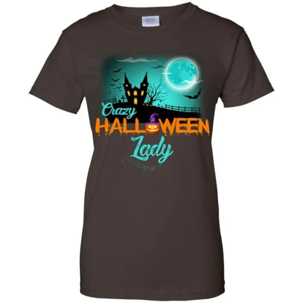 Crazy Halloween Lady Shirt, Hoodie, Racerback Apparel 12