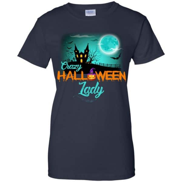 Crazy Halloween Lady Shirt, Hoodie, Racerback Apparel 13