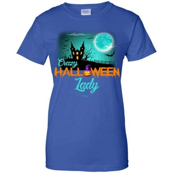Crazy Halloween Lady Shirt, Hoodie, Racerback Apparel 14