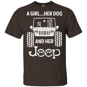 A Girl Her Dog And Her Jeep Shirt, Hoodie, Tank