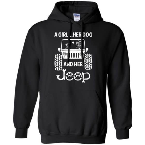 A Girl Her Dog And Her Jeep Shirt, Hoodie, Tank Apparel