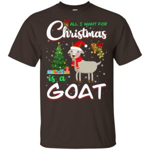 All I Want For Christmas Is A Goat Shirt, Hoodie, Tank