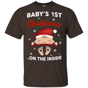 Baby's 1st Christmas On The Inside Shirt, Hoodie, Tank Apparel