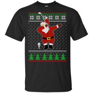 Dabbing Santa Golf Ugly Christmas Sweater, T-Shirts, Hoodie