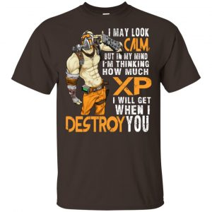 I May Look Calm But In My Mind I'm Thinking How Much XP I Will Get When I Destroy You Shirt, Hoodie, Tank Apparel