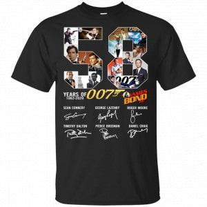 58 Years Of James Bond Anniversary Shirt, Hoodie, Tank Apparel
