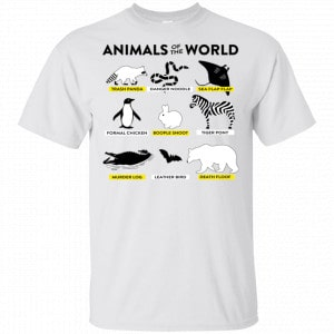 Animals Of The World Shirt, Hoodie, Tank New Designs