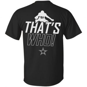 Zeke Who That's Who Ezekiel Elliott Dallas Cowboys T-Shirts Apparel