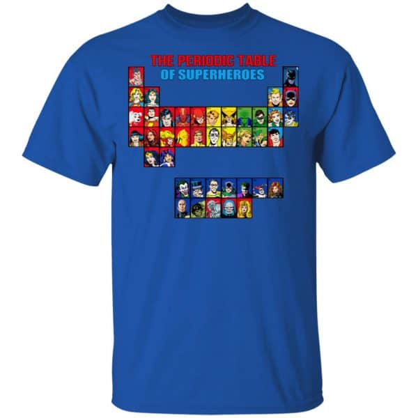 The Periodic Table Of Superheroes Shirt, Hoodie, Tank