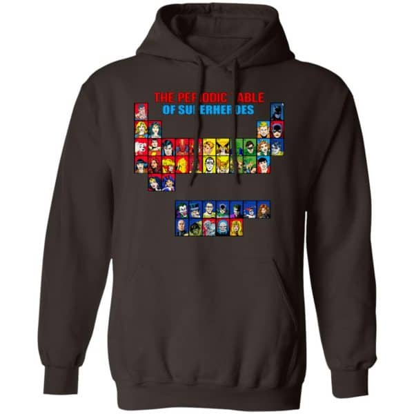 The Periodic Table Of Superheroes Shirt, Hoodie, Tank New Designs