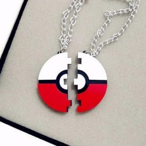 2016 New Pokemon Go Game Pokeball Pendant Necklace Must Have Couples Necklace Laser Cut Acrylic Jewelry Necklace
