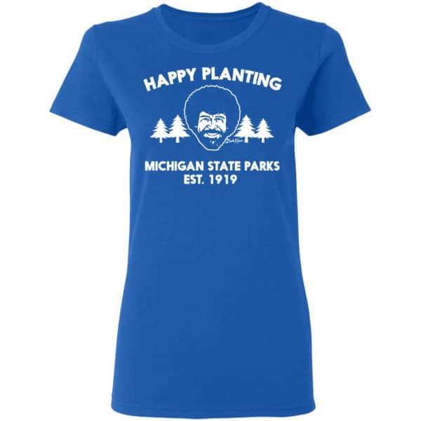 Bob Ross Happy Planting Michigane State Parks DNR Shirt, Hoodie, Tank