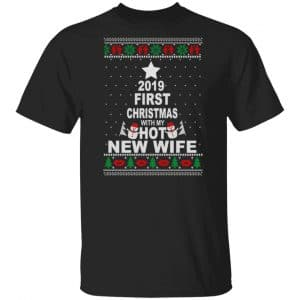 2019 First Christmas With My Hot New Wife Shirt, Hoodie, Tank Apparel