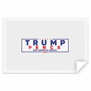 Official Trump-Pence 2020 Bumper Sticker Stickers