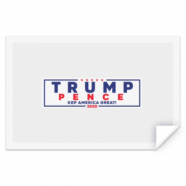 Official Trump-Pence 2020 Bumper Sticker Stickers 2
