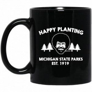 Bob Ross Happy Planting Michigane State Parks DNR Mug Coffee Mugs