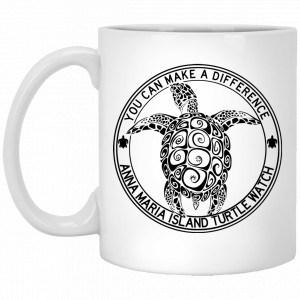 Anna Maria Island Turtle Watch You Can Make A Difference Mug Coffee Mugs