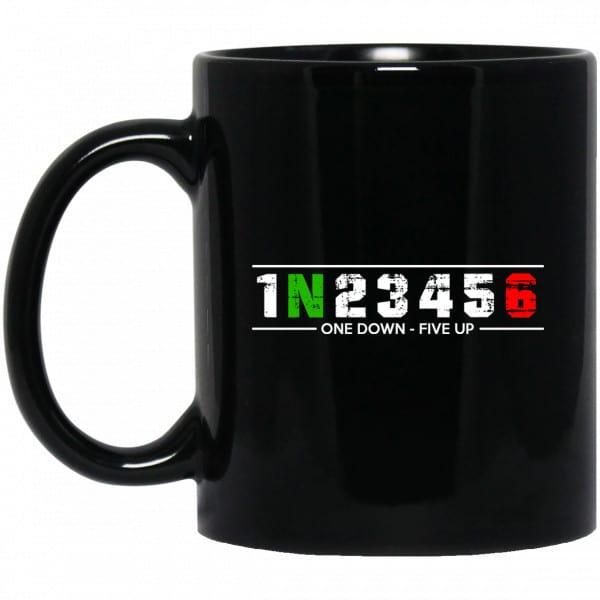 1 N 2 3 4 5 6 One Down Five Up Mug Coffee Mugs