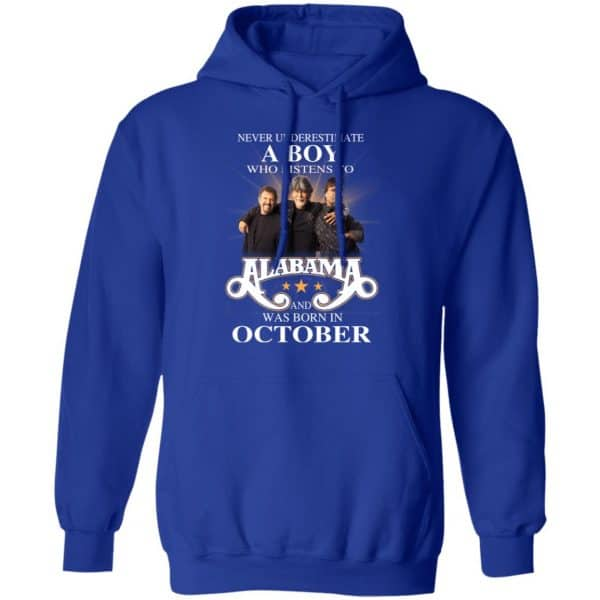 A Boy Who Listens To Alabama And Was Born In October Shirt, Hoodie, Tank Birthday Gift & Age 12