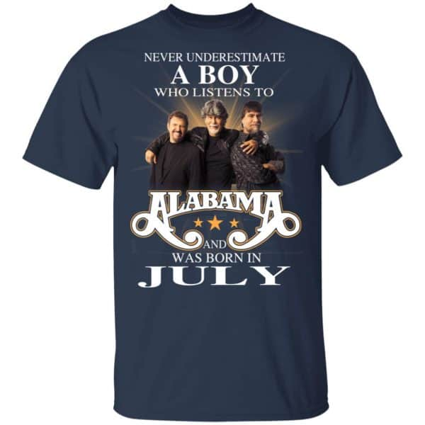 A Boy Who Listens To Alabama And Was Born In July Shirt, Hoodie, Tank Birthday Gift & Age 5