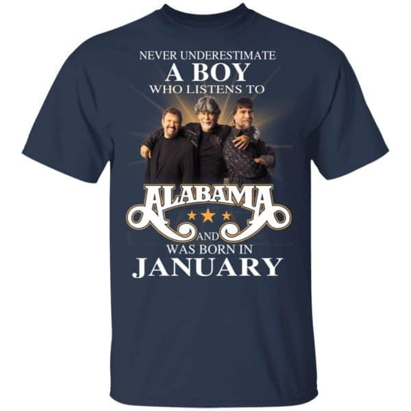 A Boy Who Listens To Alabama And Was Born In January Shirt, Hoodie, Tank Birthday Gift & Age 5