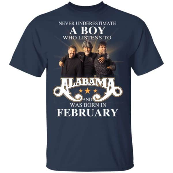 A Boy Who Listens To Alabama And Was Born In February Shirt, Hoodie, Tank Birthday Gift & Age 5