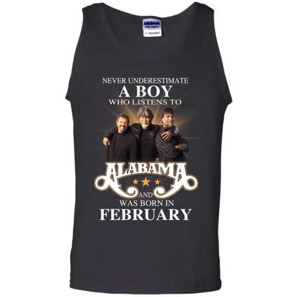 A Boy Who Listens To Alabama And Was Born In February Shirt, Hoodie, Tank Birthday Gift & Age 13