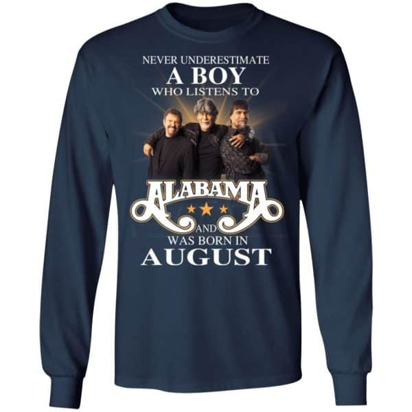 A Boy Who Listens To Alabama And Was Born In August Shirt, Hoodie, Tank Birthday Gift & Age 8