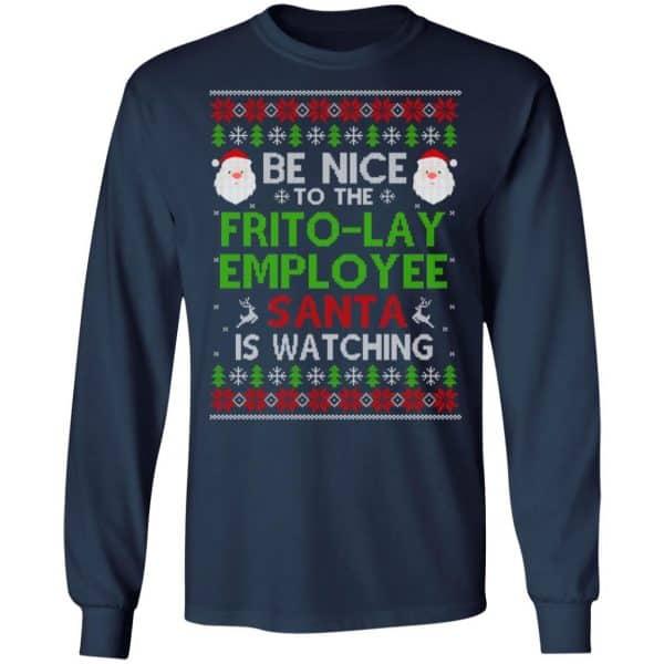 Be Nice To The Frito-Lay Employee Santa Is Watching Christmas Sweater, Shirt, Hoodie Christmas 6