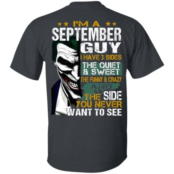 Joker September Guy Have 3 Sides The Quiet And Sweet Shirt, Hoodie, Tank Birthday Gift & Age 4