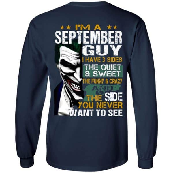Joker September Guy Have 3 Sides The Quiet And Sweet Shirt, Hoodie, Tank Birthday Gift & Age 8