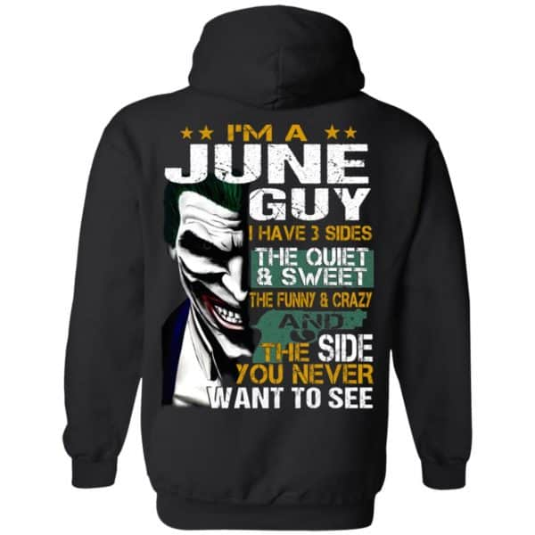 Joker June Guy Have 3 Sides The Quiet And Sweet Shirt, Hoodie, Tank Birthday Gift & Age 9
