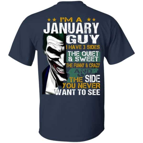 Joker January Guy Have 3 Sides The Quiet And Sweet Shirt, Hoodie, Tank Birthday Gift & Age 5