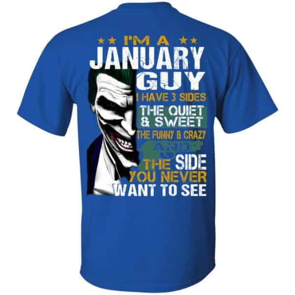 Joker January Guy Have 3 Sides The Quiet And Sweet Shirt, Hoodie, Tank Birthday Gift & Age 6