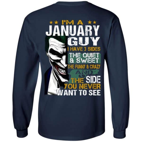 Joker January Guy Have 3 Sides The Quiet And Sweet Shirt, Hoodie, Tank Birthday Gift & Age 8