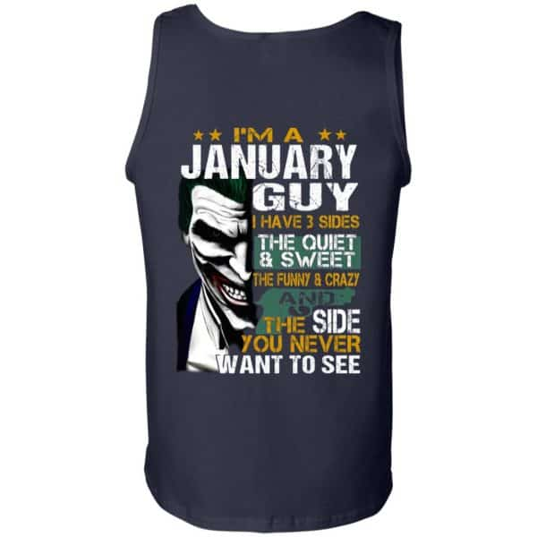 Joker January Guy Have 3 Sides The Quiet And Sweet Shirt, Hoodie, Tank Birthday Gift & Age 14