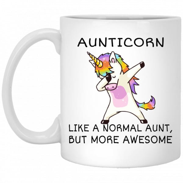 Aunticorn Like A Normal Aunt But More Awesome Mug Coffee Mugs 3