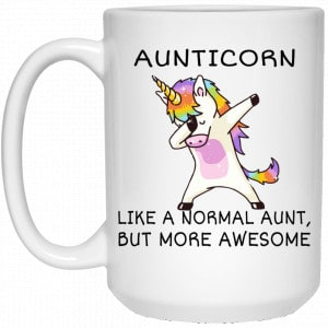 Aunticorn Like A Normal Aunt But More Awesome Mug Coffee Mugs 2