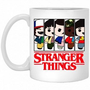 Stranger Things Cartoon Pattern Mug Coffee Mugs