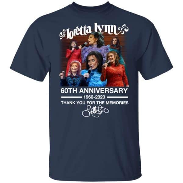 Loretta Lynn 60th Anniversary 1960 2020 Thank You For The Memories Signature Shirt, Hoodie, Tank Apparel 5