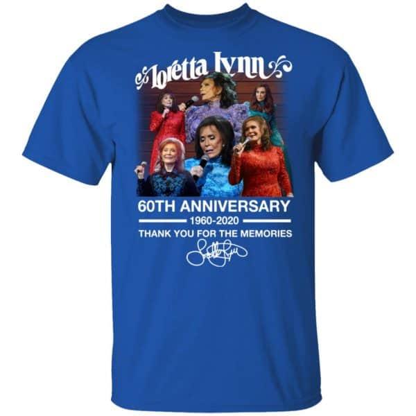 Loretta Lynn 60th Anniversary 1960 2020 Thank You For The Memories Signature Shirt, Hoodie, Tank Apparel 6