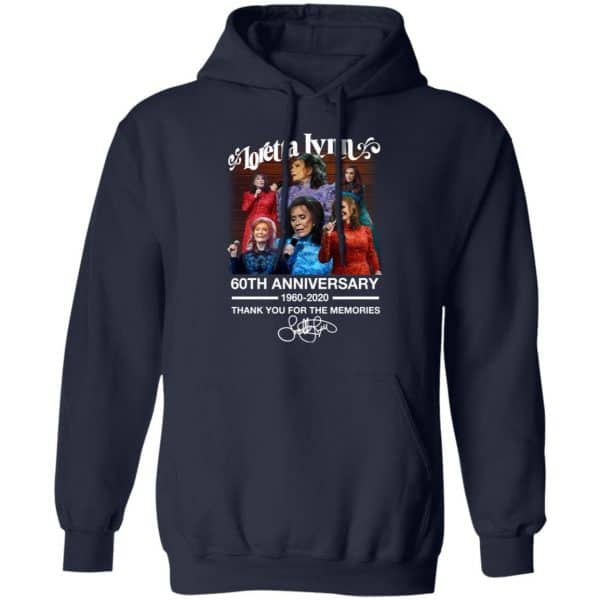 Loretta Lynn 60th Anniversary 1960 2020 Thank You For The Memories Signature Shirt, Hoodie, Tank Apparel 12