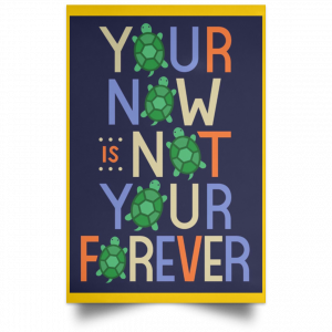 Your Now Is Not Your Forever Poster Apparel