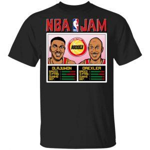 NBA Jam Rockets Olajuwon And Drexler Shirt, Hoodie, Tank