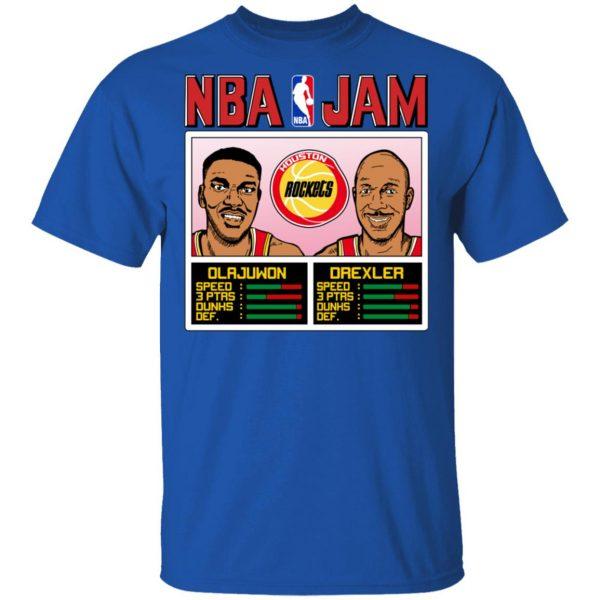 NBA Jam Rockets Olajuwon And Drexler Shirt, Hoodie, Tank Apparel